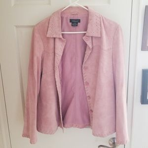 Willi Smith Pink Leather Jacket